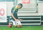 ***BETALBILD***  <br /> Solna 2015-05-31 Fotboll Allsvenskan AIK - Helsingborgs IF :  <br /> AIK:s Nabil Bahoui p&aring; kn&auml; efter sitt 1-0 m&aring;l under matchen mellan AIK och Helsingborgs IF <br /> (Foto: Kenta J&ouml;nsson) Nyckelord:  AIK Gnaget Friends Arena Allsvenskan Helsingborg HIF jubel gl&auml;dje lycka glad happy