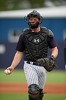 New York Yankees Josh Breaux (13) during a Minor League Spring Training game against the Atlanta Braves on March 12, 2019 at New York Yankees Minor League Complex in Tampa, Florida.  (Mike Janes/Four Seam Images)