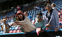 A Huddersfield Town fan takes a selfie <br /> <br /> Photographer Stephen White/CameraSport<br /> <br /> The Premier League - Huddersfield Town v Chelsea - Saturday August 11th 2018 - The John Smith&rsquo;s Stadium<br />  - Huddersfield<br /> <br /> World Copyright &copy; 2018 CameraSport. All rights reserved. 43 Linden Ave. Countesthorpe. Leicester. England. LE8 5PG - Tel: +44 (0) 116 277 4147 - admin@camerasport.com - www.camerasport.com