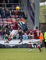 Gozie Ugwu of Wycombe Wanderers during the Sky Bet League 2 match between Northampton Town and Wycombe Wanderers at Sixfields Stadium, Northampton, England on the 20th February 2016. Photo by Liam McAvoy.