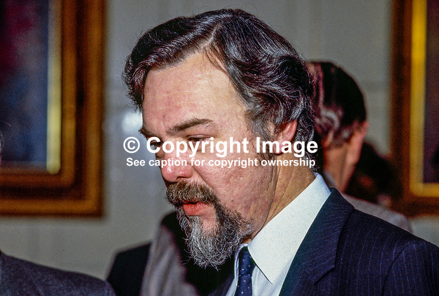 Paddy O'Flaherty, radio, television, journalist, broadcaster, BBC, Belfast, N Ireland, UK, 19850100009.<br /> <br /> Copyright Image from Victor Patterson, 54 Dorchester Park, Belfast, UK, BT9 6RJ<br /> <br /> t1: +44 28 9066 1296 (from Rep of Ireland 048 9066 1296)<br /> t2: +44 28 9002 2446 (from Rep of Ireland 048 9002 2446)<br /> m: +44 7802 353836<br /> <br /> e1: victorpatterson@me.com<br /> e2: victorpatterson@gmail.com<br /> <br /> The use of my copyright images is subject to my Terms &amp; Conditions.<br /> <br /> It is IMPORTANT that you familiarise yourself with them. They are available on my website at www.victorpatterson.com.<br /> <br /> None of my copyright images may be used on a website unless they are visibly watermarked, i.e. &copy; Victor Patterson within the body of the visible image. Metadata denoting my copyright must NOT be deleted. <br /> <br /> Web use (maximum size - 400 kb) is extra at currently recommended NUJ rates.