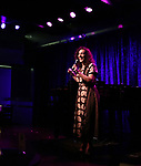 Gabrielle Stravelli  performing onstage at Birdland Theater during the Media Open House Cocktail Party at the Birdland Theater on September 20, 2018 in New York City.