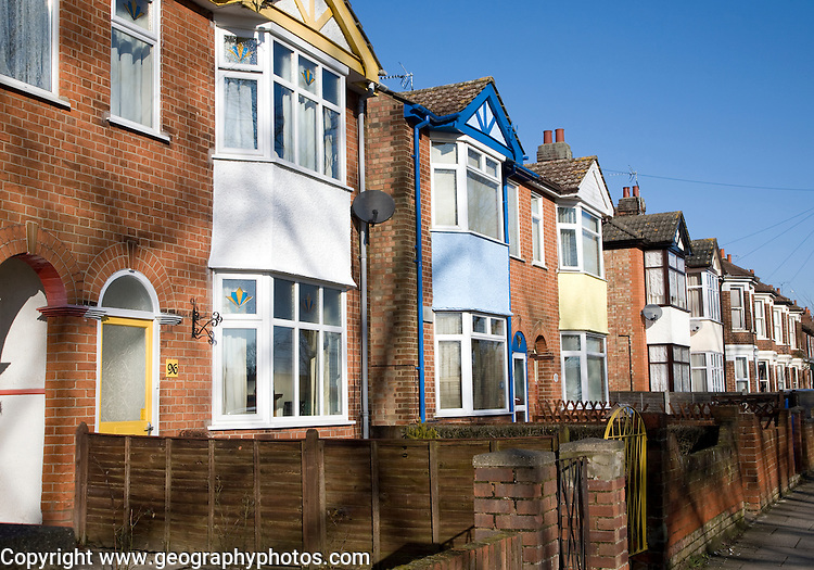 Inter war semi detached housing, Ipswich, Suffolk