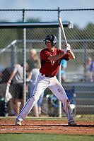 Hank Thomas during the WWBA World Championship at the Roger Dean Complex on October 20, 2018 in Jupiter, Florida.  Hank Thomas is an outfielder from Oxford, Ohio who attends St. Xavier High School and is committed to Georgia Tech.  (Mike Janes/Four Seam Images)