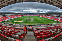 General view of the Keepmoat stadium, home of Doncaster Rovers ahead of the Sky Bet League 2 match between Doncaster Rovers and Wycombe Wanderers at the Keepmoat Stadium, Doncaster, England on 29 October 2016. Photo by David Horn.