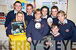 "AWARD: Students from Causeway Comprehensive School who won the Regional Finals of the Bank of Ireland Students Awards 2008 for their DVD ""Breaking the Silence""..Front L/r. Rachel O'Brien (Ballyheigue), Laura Costello (Ballyduff), Francis Meehan (Causeway), Brian Meehan (Causeway). .Back L/r. Alan Barrett (Causeway), David Fitzell (Kilmoyley), Ian O'Regan (Ballyheigue) Ian Dineen (Ballyheigue).   Copyright Kerry's Eye 2008"