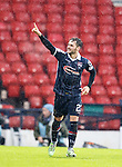 Alex Schalk scores goal no 3 for Ross County and celebrates