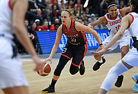 20200206 – OOSTENDE ,  BELGIUM : Belgian Julie Allemand (55) pictured during a basketball game between the national teams of Canada and the National team of Belgium named the Belgian Cats on the first matchday of the FIBA Women's Qualifying Tournament 2020 , on Thursday 6  th February 2020 at the Versluys Dome in Oostende  , Belgium  .  PHOTO SPORTPIX.BE   DAVID CATRY