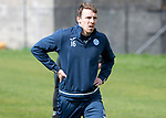 St Johnstone Training&hellip;04.05.18<br />David McMillan pictured during training this morning at McDiarmid Park<br />Picture by Graeme Hart.<br />Copyright Perthshire Picture Agency<br />Tel: 01738 623350  Mobile: 07990 594431