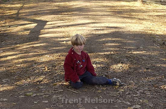 Nathaniel Nelson at CCNS pre-school field trip to Wheeler Farm. 11/16/2001, 10:35:06 AM<br />
