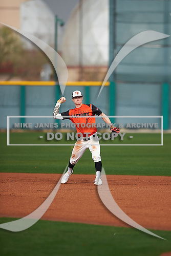 Zach Orn (1) of Eastside Jr/Sr High High School in Hamilton, Indiana during the Under Armour All-American Pre-Season Tournament presented by Baseball Factory on January 14, 2017 at Sloan Park in Mesa, Arizona.  (Zac Lucy/Mike Janes Photography)
