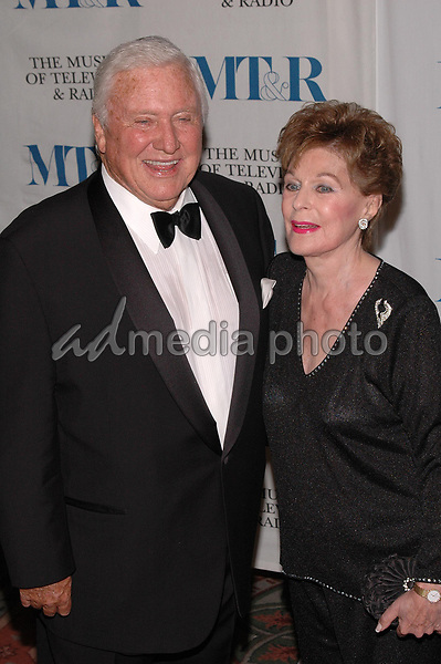 26 May 2005 - New York, New York - Merv Griffin and Roberta Peters arrive at The Museum of Television and Radio's Annual Gala where Merv is being honored for his award winning career in radio and television.<br />