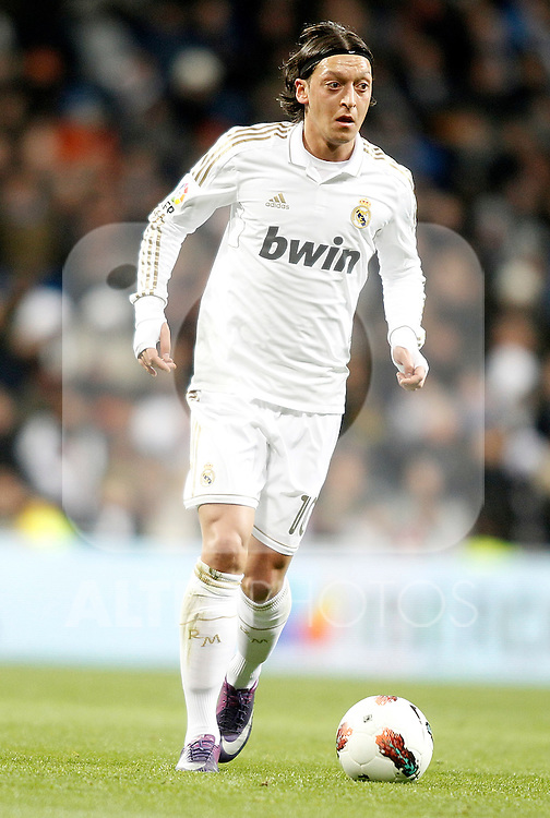 Real Madrid's Mesut Özil during La Liga match. February 12, 2012. (ALTERPHOTOS/Alvaro Hernandez)