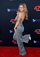 """LOS ANGELES, USA. August 14, 2019: Brec Bassinger at the premiere of """"47 Meters Down: Uncaged"""" at the Regency Village Theatre.<br /> Picture: Paul Smith/Featureflash"""