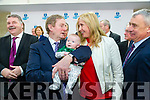 Taoiseach Enda Kenny TD attend the launch of the €16.5m sports academy at ITT North Campus on Monday. An Taoiseach Enda Kenny meeting young Kerry supporter, Sean Sayers and mom Eileen Sayers