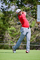 Jon Rahm (ESP) watches his tee shot on 2 during round 7 of the World Golf Championships, Dell Technologies Match Play, Austin Country Club, Austin, Texas, USA. 3/26/2017.<br /> Picture: Golffile | Ken Murray<br /> <br /> <br /> All photo usage must carry mandatory copyright credit (&copy; Golffile | Ken Murray)