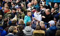 Leeds United's Ben White arrives at the ground<br /> <br /> Photographer Chris Vaughan/CameraSport<br /> <br /> The EFL Sky Bet Championship - Leeds United v Sheffield Wednesday - Saturday 11th January 2020 - Elland Road - Leeds<br /> <br /> World Copyright © 2020 CameraSport. All rights reserved. 43 Linden Ave. Countesthorpe. Leicester. England. LE8 5PG - Tel: +44 (0) 116 277 4147 - admin@camerasport.com - www.camerasport.com