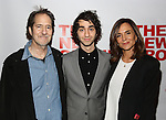 "Michael Wolff, Alex Wolff and Polly Draper attends the Opening Night of The New Group World Premiere of ""All The Fine Boys"" at the The Green Fig Urban Eatery on March 1, 2017 in New York City."