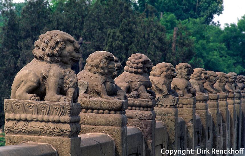 China, Peking, auf der Marco Polo-Brücke (LuGouQiao)
