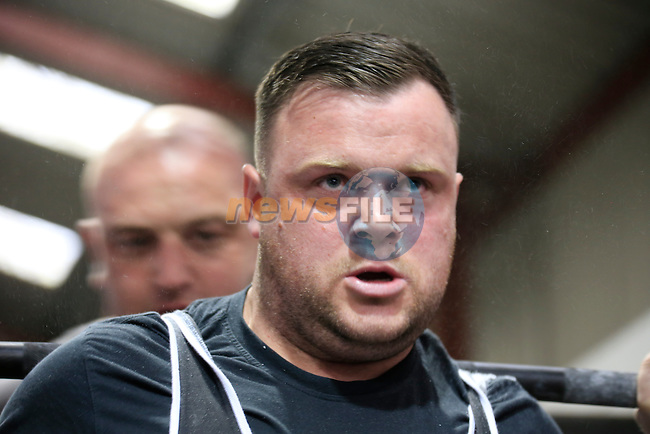 Thomas Corrish at the Irish Powerlifting Organisation Nation Championship 2014 in The Boyneside Strenght Gym.<br /> Picture: www.newsfile.ie
