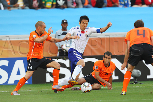 J/Makoto Hasebe (JPN), .JUNE 19, 2010 - Football : .2010 FIFA World Cup South Africa .Group Match -Group E- .between Netherlands 1-0 Japan .at Durban Stadium, Durban, South Africa. .