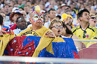 Santa Clara, CA - Friday June 3, 2016: A Colombia fan watches the game.  USA played Colombia in the opening match of the Copa América Centenario game at Levi's Stadium.
