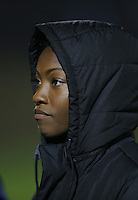 Boyds, MD - Friday Sept. 30, 2016: Cheyna Williams prior to a National Women's Soccer League (NWSL) semi-finals match between the Washington Spirit and the Chicago Red Stars at Maureen Hendricks Field, Maryland SoccerPlex. The Washington Spirit won 2-1 in overtime.
