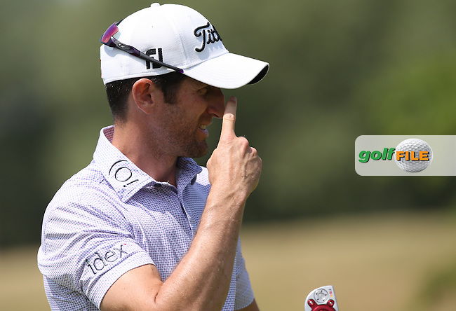 Gregory Bourdy (FRA) makes birdie on the 3rd during Round Three of the 2015 Alstom Open de France, played at Le Golf National, Saint-Quentin-En-Yvelines, Paris, France. /04/07/2015/. Picture: Golffile | David Lloyd<br /> <br /> All photos usage must carry mandatory copyright credit (&copy; Golffile | David Lloyd)