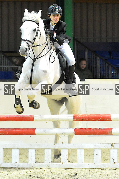 Class 2. British Showjumping (BS) Juniors. Brook Farm Training Centre. Essex. 30/01/2016. MANDATORY Credit Ellie Ingram/Sportinpictures - NO UNAUTHORISED USE - 07837 394578
