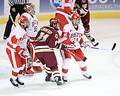 Chris Higgins (John Curry) Benn Ferreiro, Jekabs Redlihs - The Boston College Eagles defeated the Boston University Terriers 5-0 on Saturday, March 25, 2006, in the Northeast Regional Final at the DCU Center in Worcester, MA.