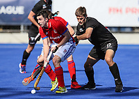Marcus Child. Pro League Hockey, Vantage Blacksticks v Great Britain. Nga Puna Wai Hockey Stadium, Christchurch, New Zealand. Friday 8th February 2019. Photo: Simon Watts/Hockey NZ