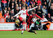3rd December 2017, Vitality Stadium, Bournemouth, England; EPL Premier League football, Bournemouth versus Southampton; Lewis Cook of Bournemouth and Steven Davis of Southampton both challenge for a loose ball