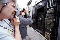 Visitors at the mausoleum of Eva &quot;Evita&quot; Peron at the cementary Recoleta in Buenos Aires.<br /> 22.10.2000, Buenos Aires<br /> Copyright: Christian-Ditsch.de<br /> [Inhaltsveraendernde Manipulation des Fotos nur nach ausdruecklicher Genehmigung des Fotografen. Vereinbarungen ueber Abtretung von Persoenlichkeitsrechten/Model Release der abgebildeten Person/Personen liegen nicht vor. NO MODEL RELEASE! Nur fuer Redaktionelle Zwecke. Don't publish without copyright Christian-Ditsch.de, Veroeffentlichung nur mit Fotografennennung, sowie gegen Honorar, MwSt. und Beleg. Konto: I N G - D i B a, IBAN DE58500105175400192269, BIC INGDDEFFXXX, Kontakt: post@christian-ditsch.de<br /> Urhebervermerk wird gemaess Paragraph 13 UHG verlangt.]