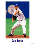 7 August 2001: MLB Pitcher Dan Smith in Action. Mandatory Credit: Ed Wolfstein Photo