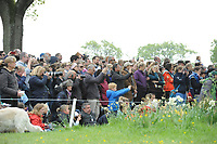 spectators taking pictures during the Mitsubishi Motors Badminton Horse Trials 2017 Badminton Glos. UK on 6th May 2017.