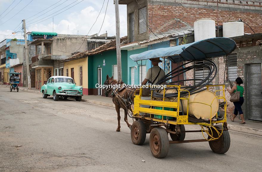 27/07/18<br /> <br /> Typical street scene, Trinidad, Cuba.<br /> <br /> All Rights Reserved, F Stop Press Ltd. (0)1335 344240 +44 (0)7765 242650  www.fstoppress.com rod@fstoppress.com