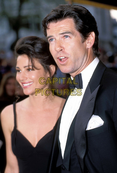 KEELY SHAYE SMITH & PIERCE BROSNAN.Ref: 1145.married, bow tie, celebrity couple, headshot,portrait.*RAW SCAN - photo will be adjusted for publication*.www.capitalpictures.com.sales@capitalpictures.com.© Capital Pictures