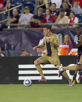 Philadelphia Union forward Sebastien Le Toux (9) makes a move. The Philadelphia Union defeated New England Revolution, 2-1, at Gillette Stadium on August 28, 2010.