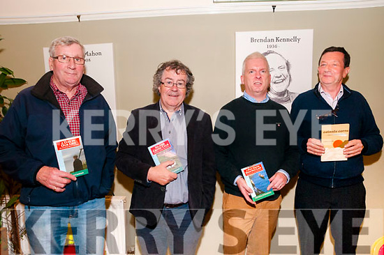 Tim Enright Lecture: Vincent Carmody, Gabriel Fitzmaurice, Martrin Moore & Michael DeMordha pictured at the Tim Enright:The Forgotton Man of Listowel Writers Lecture at the Seanchai Centre, Listowel on Wednesday night 18th October last.