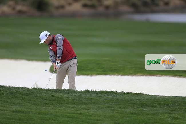 Zach Johnson (USA) on the 18th during the final round of the Waste Management Phoenix Open, TPC Scottsdale, Scottsdale, Arisona, USA. 03/02/2019.<br /> Picture Fran Caffrey / Golffile.ie<br /> <br /> All photo usage must carry mandatory copyright credit (© Golffile | Fran Caffrey)