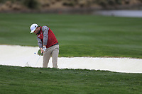 Zach Johnson (USA) on the 18th during the final round of the Waste Management Phoenix Open, TPC Scottsdale, Scottsdale, Arisona, USA. 03/02/2019.<br /> Picture Fran Caffrey / Golffile.ie<br /> <br /> All photo usage must carry mandatory copyright credit (&copy; Golffile | Fran Caffrey)