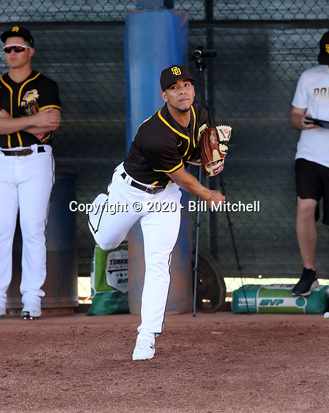 Luis Patino - San Diego Padres 2020 spring training (Bill Mitchell)