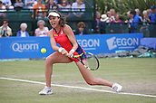 June 16th 2017, Nottingham, England;WTA Aegon Nottingham Open Tennis Tournament day 7;  Backhand from Johanna Konta of Great Britain; Konta won 6-3, 7-5 to reach the semi finals