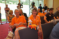 Austria, Kitzbuhel, Juli 16, 2015, Tennis, Davis Cup, Draw, Dutch supporters <br /> Photo: Tennisimages/Henk Koster