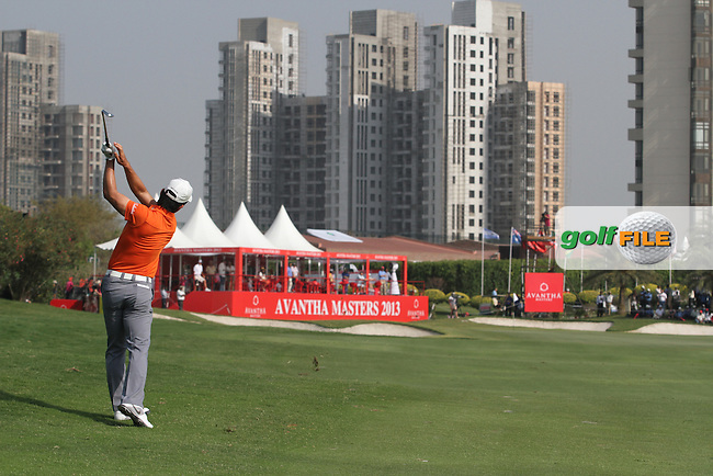 Liang Wenchong (CHN) on the 18th during Round 3 of the 2013 Avantha Masters, Jaypee Greens Golf Club, Greater Noida, Delhi, 16/3/13..(Photo Jenny Matthews/www.golffile.ie)