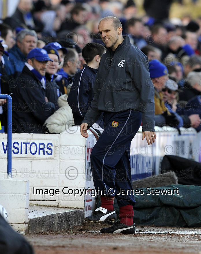 08/03/2008    Copyright Pic: James Stewart.File Name : sct_jspa22_qots_v_dundee.DUNDEE BOSS ALEX RAE WATCHES HIS SIDE PUT OUT OF THE CUP BY QUEEN OF THE SOUTH....James Stewart Photo Agency 19 Carronlea Drive, Falkirk. FK2 8DN      Vat Reg No. 607 6932 25.Studio      : +44 (0)1324 611191 .Mobile      : +44 (0)7721 416997.E-mail  :  jim@jspa.co.uk.If you require further information then contact Jim Stewart on any of the numbers above........