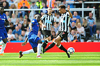Jacob Murphy of Newcastle United battles with Ngolo Kante of Chelsea during Newcastle United vs Chelsea, Premier League Football at St. James' Park on 13th May 2018