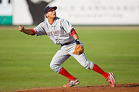 Shortstop Freddy Galvis (13) of the Lakewood BlueClaws has his eyes on a pop fly versus the Kannapolis Intimidators at Fieldcrest Cannon Stadium in Kannapolis, NC, Sunday, May 11, 2008.