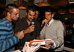 "Viktor Troicki, Nenad Zimonjic, Novak Djokovic, Players Party, Novak restaurant, ATP 250 series tennis tournament ""Serbia Open"" in Belgrade, Serbia, Tuesday, April 26. 2011. (photo: Pedja Milosavljevic / SIPA PRESS)"