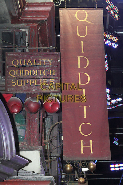 Atmosphere .'Warners Bros Studio Tour - The Making of Harry Potter' at Leavesden Studios, Watford, Hertfordhire, England..March 29th 2012.gv general view set film sign quidditch quuality supplies .CAP/JIL.©Jill Mayhew/Capital Pictures